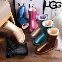 UGG Fashion Women Men Leather Shoes Boots Winter Half Boots Shoes