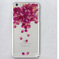 Real Rose Petal Rain Iphone Case