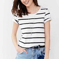 Project Social T Walk The Line Striped Tee- White