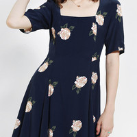 Cooperative Falling Floral Fit & Flare Dress - Urban Outfitters