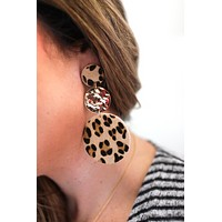 Linz Leopard Trio Drop Earrings