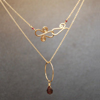 Necklace 175 - choice of stone - GOLD