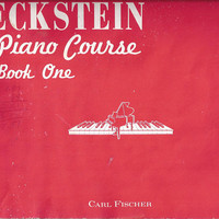 1951 Vintage Eckstein Piano Course, Book 1, 32 Pages, 27 Songs, Carl Fischer, Basic Instruction, Quiz, Vintage Music Piano Book