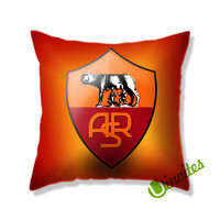 As Roma Logo Square Pillow Cover