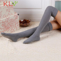 Fabulous 2016 NEW Fashion Sexy Thigh High Over The Knee Socks Long Cotton Stockings For Girls Ladies Women knitted stockings