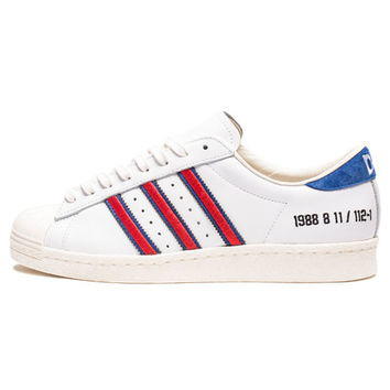 """ADIDAS CONSORTIUM X DMOP SUPERSTAR """"10TH ANNIVERSARY"""" - WHITE/RED/BLUE 