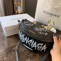 Balenciaga Souvenir Bag Graffiti graffiti print belt bag