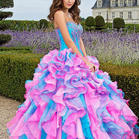 New 2013 Organza Pageant Prom Dress Ball Gown Quinceanera Dresses Wedding Gown