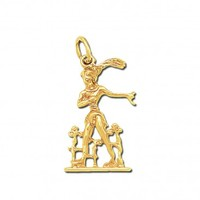 Minoan Prince of the Lilies ~14K Solid Gold Pendant