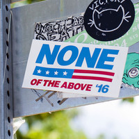 None of the Above '16 bumper sticker