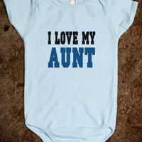 I Love My Aunt (blue) Baby One Piece