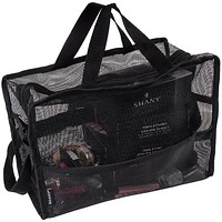Collapsible Mesh Bag and Travel Tote – Black