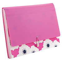 See Jane Work Expanding File Case 13 Pockets 13 x 9 Pink Floral by Office Depot