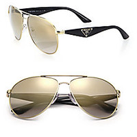 Prada - 60MM Aviator Sunglasses - Saks Fifth Avenue Mobile
