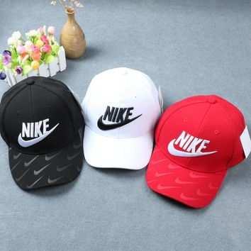 """""""Nike"""" Fashion Casual Simple Embroidery Tick Hook Cotton Baseball Cap Hat"""