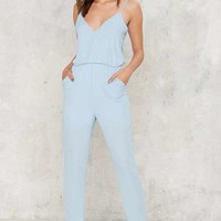 Control Freak Plunging Jumpsuit