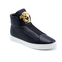 Versace Men's Black 'Palazzo Medusa' Hi-Top Sneakers