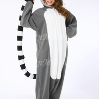 KIGURUMI Animal Pajamas Pyjamas Costume Onesuit Adult / Kid SLOTH-Lemur catta
