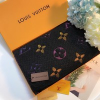 Louis Vuitton Women Fashion Cashmere Warm Cape Scarf Scarves