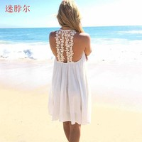 2017 dress spring summer womens sexy dresses above knee mini lace dress women summer women mini dress women S-XXL