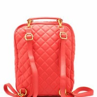 quilted convertible backpack $42.60 in DKMINT SALMON - Bags | GoJane.com