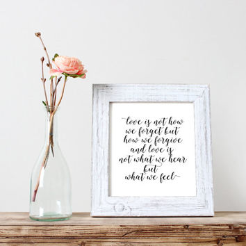 """inspirational print""""love is""""motivational quote,best words,word art,gif idea,typography art print,instant,dorm room decor,love is answer"""