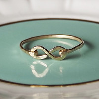 Hammered Gold Filled or Sterling Infinity Band - Gold Ring - Stackable Ring - Hammered Ring - Wedding Band