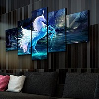 Dancing Unicorn Canvas Set