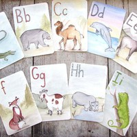 A-Z Animal Alphabet Flash Cards