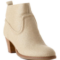 DUSTER WESTERN BOOTIE IN NATURAL