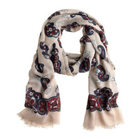 Printed airy wool scarf - scarves, hats & gloves - Women's accessories - J.Crew