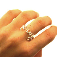 pray ring, wire wrapped pray, silver plated pray jewelry