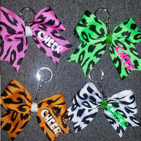 Cheer Cheetah Keychains by ThingsToCheerAbout on Etsy