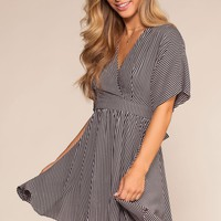 Eclipse Black And White Stripe Dress