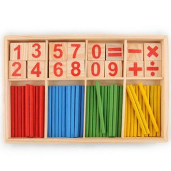 52 Spindles Wooden Counting Game Mathematics Material Toy for Kid Child = 1946419268