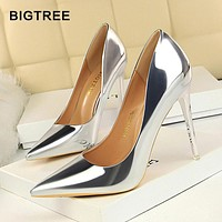 New Patent Leather Women Pumps Fashion Office Shoes Women Sexy High Heels Shoes Women's Wedding Shoes Party