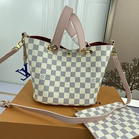 LV Louis Vuitton M2188 Women's Tote Bag Handbag Shopping Leather Tote Crossbody Satchel  21X18X17CM