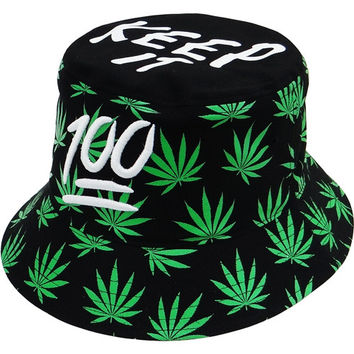 + Fisherman Bucket Hat In Black White