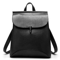 School Backpack trendy JOOZ Preppy Style women Leather Backpack youth  Bag For College vintage Bookbags Men male Casual Daypacks AT_54_4