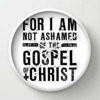 Romans 1:16 Not Ashamed Wall Clock by Pocket Fuel