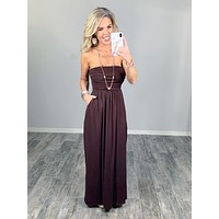Your So Classic Pocket Maxi Dress - Brown