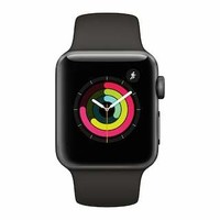 Apple Watch Series 3 (GPS) 38mm Aluminum Case with Black Sport Band
