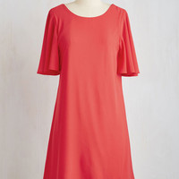 Mid-length Short Sleeves Shift Cha-Cha Charming Dress by ModCloth