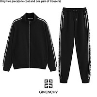 Givenchy fashion new tailored jacquard lace casual couple suit Black