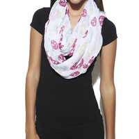 Skull Eternity Scarf   Shop Accessories at Wet Seal