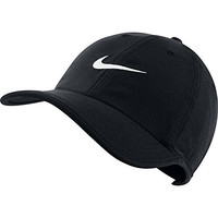 Men's Nike Heritage Twill Adjustable Hat Black/White Size One Size