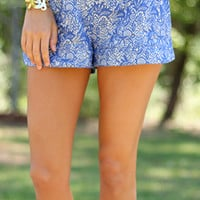 Sweet Chariot Shorts, Blue