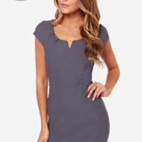 LULUS Exclusive Work Wonders Grey Dress