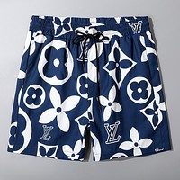 LV new full printed logo men's beach shorts