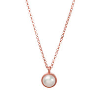 Pearls of Beauty Large Bezel-Set Pearl Pendant Necklace, Rose Gold | Dogeared